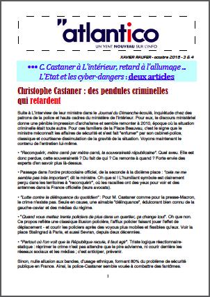 C. Castaner à L'intérieur, retard à l'allumage … L'Etat et les cyber-dangers : deux articles