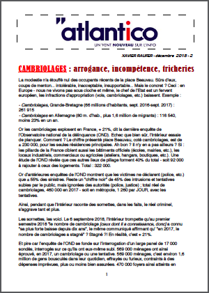 CAMBRIOLAGES : arrogance, incompétence, tricheries
