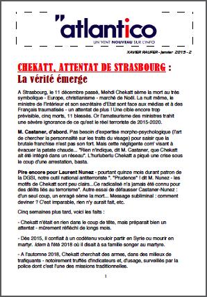 CHEKATT, ATTENTAT DE STRASBOURG : La vérité émerge
