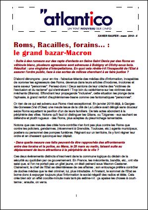 Roms, Racailles, forains… : le grand bazar-Macron