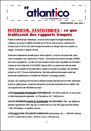 INTÉRIEUR, STATISTIQUES : ce que trahissent des rapports truqués
