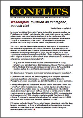 Washington, mutation du Pentagone, pouvoir réel