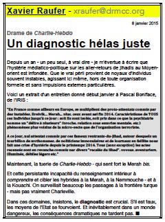 Drame de Charlie-Hebdo – Un diagnostic hélas juste