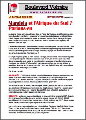 Mandela et l'Afrique du Sud ? Parlons-en