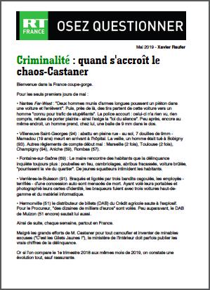 Criminalité : quand s'accroît le chaos-Castaner