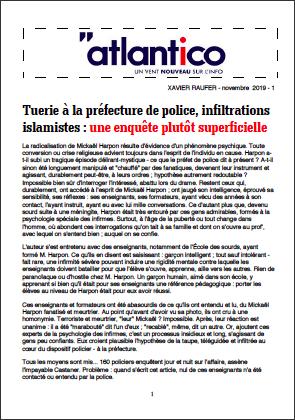 Tuerie à la préfecture de police, infiltrations islamistes : une enquête plutôt superficielle