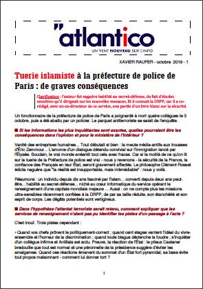 Tuerie islamiste à la préfecture de police de Paris : de graves conséquences