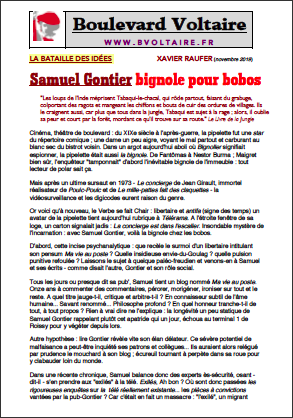 Samuel Gontier bignole pour bobos