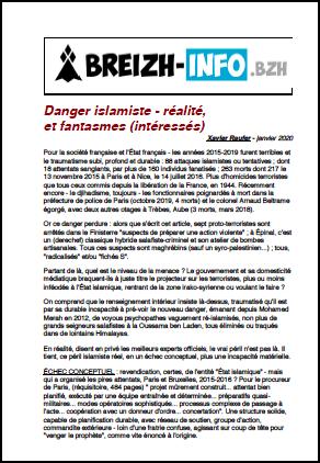Danger islamiste – réalité, et fantasmes (intéressés)