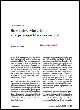 Homicides, États-Unis et « privilège blanc » criminel