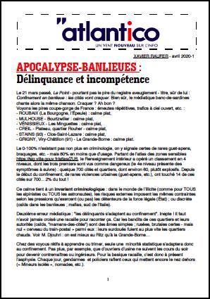 APOCALYPSE-BANLIEUES : Délinquance et incompétence