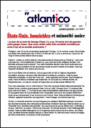 États-Unis, homicides et minorité noire