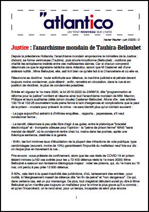 Justice : l'anarchisme mondain de Taubira-Belloubet
