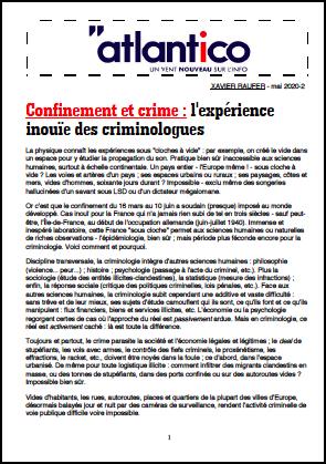 Confinement et crime : l'expérience inouïe des criminologues