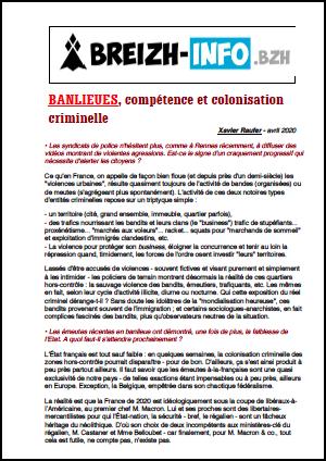 BANLIEUES, compétence et colonisation criminelle