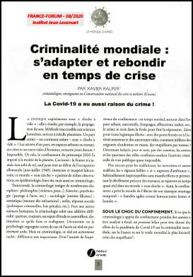 Criminalité mondiale : s'adapter et rebondir en temps de crise