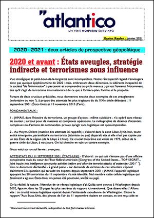2020 – 2021 : deux articles de prospective géopolitique