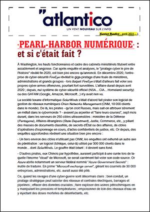 «PEARL-HARBOR NUMÉRIQUE» : et si c'était fait ?