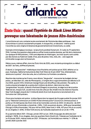 États-Unis : quand l'hystérie de Black Lives Matter provoque une hécatombe de jeunes Afro-Américains