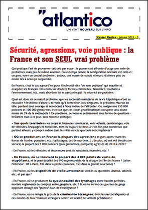 Sécurité, agressions, voie publique : la France et son SEUL vrai problème