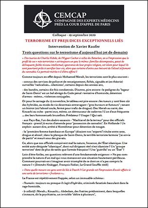 Terrorisme et préjudices exceptionnels liés