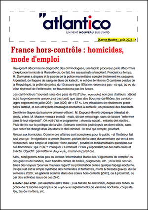 France hors-contrôle : homicides, mode d'emploi