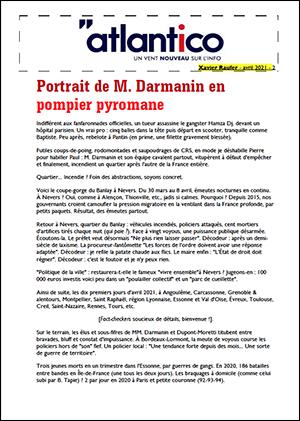 Portrait de M. Darmanin en pompier pyromane