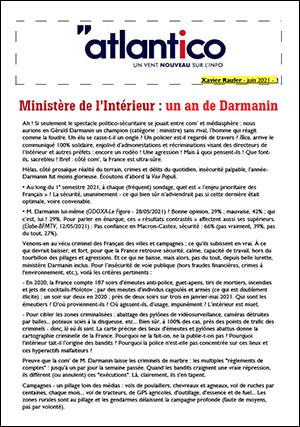 Ministère de l'Intérieur : un an de Darmanin