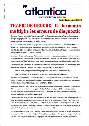 TRAFIC DE DROGUE : G. Darmanin multiplie les erreurs de diagnostic